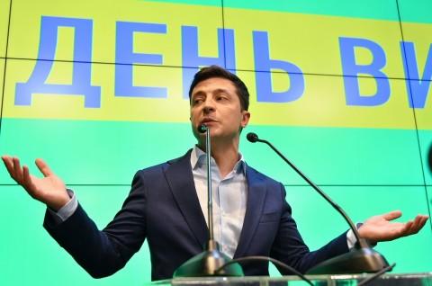 Komedian Menang Telak dalam Pilpres Ukraina
