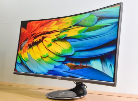Monitor ASUS Designo Series MX38VC Bisa Wireless Charging