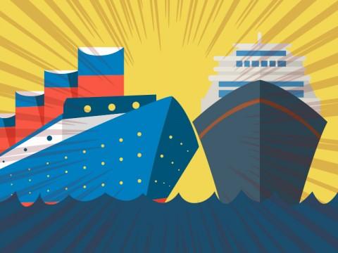 Dua Kapal Tabrakan di Merak Bukan Milik ASDP