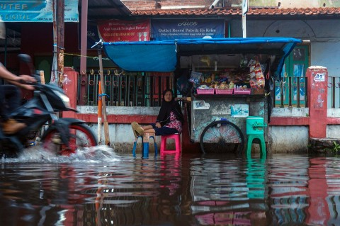 Banjir Rob Rendam Sejumlah Wilayah di Pekalongan