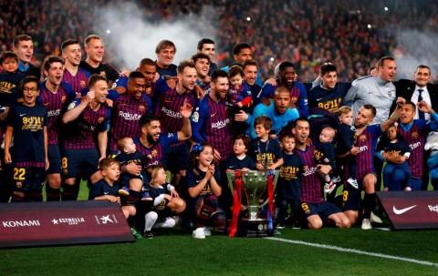 Fakta Menarik Usai Barcelona Raih Gelar La Liga Spanyol 2018--2019