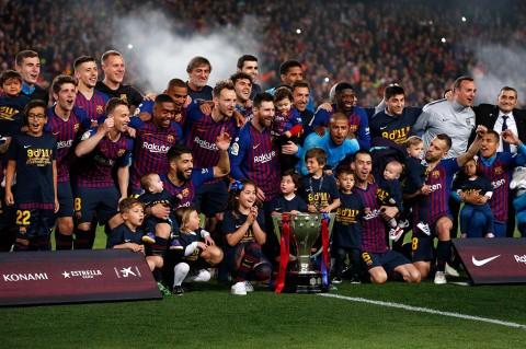 Bungkam Levante 1-0, Barca Juara Liga Spanyol
