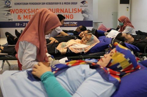 Puluhan Karyawan Media Group Ikut Donor Darah