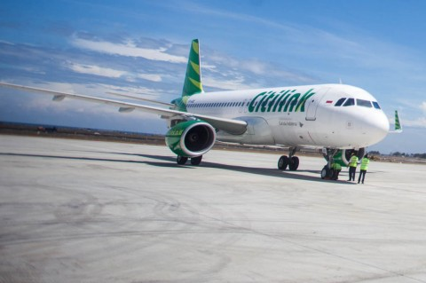 Citilink Mendarat di Yogyakarta International Airport