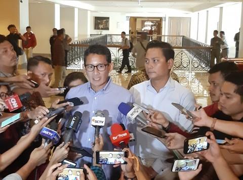 Sandi Enggan Berspekulasi Pertemuan AHY dan Jokowi