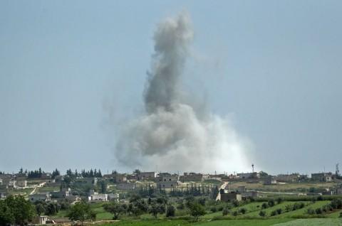 Rusia-Suriah Tingkatkan Serangan ke Daerah Pemberontak