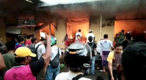 Pasar Anom Sumenep Terbakar