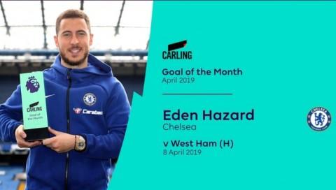 Aksi Individu Hazard saat Taklukkan West Ham Berbuah Penghargaan