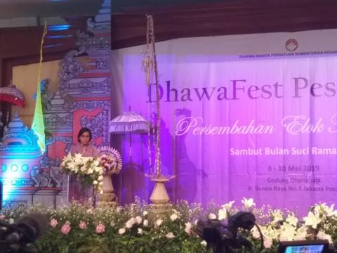 Sri Mulyani Buka Dhawa Fest 2019