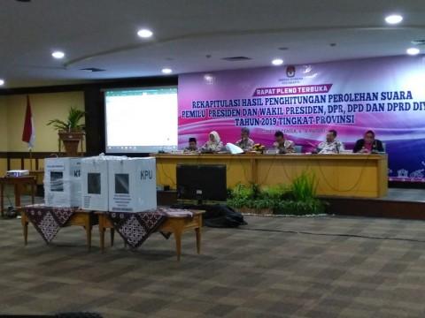 Rekapitulasi Provinsi DIY Ditunda