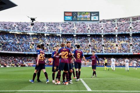 Vidal dan Messi Antar Barcelona Bungkam Getafe