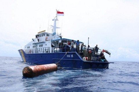 Empat Rumpon Ilegal Milik Nelayan Filipina Ditertibkan