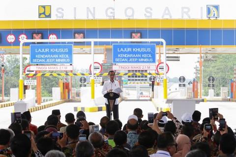 Diresmikan Jokowi, Tol Pandaan-Malang Gratis Selama Mudik