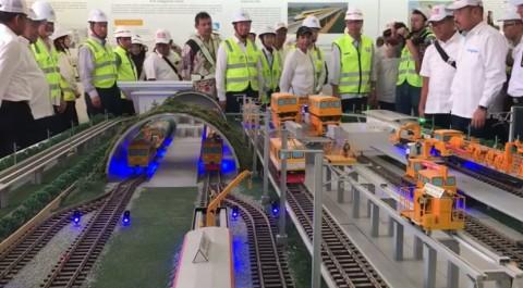 Progres Proyek Kereta Cepat Jakarta-Bandung Sudah 17,38%