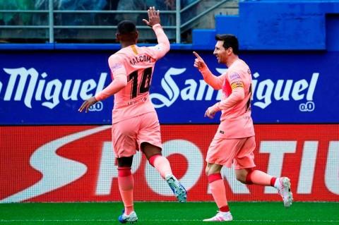 Messi Cetak Dua Gol di Laga Penutup Barcelona
