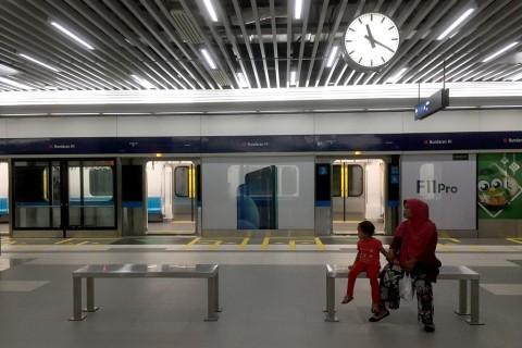 MRT Tutup Pintu Barat Stasiun Bundaran HI
