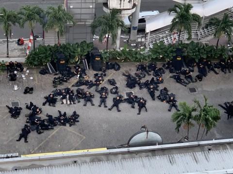 Gofar Hilman Terenyuh Lihat Polisi Penjaga Aksi 22 Mei Kelelahan