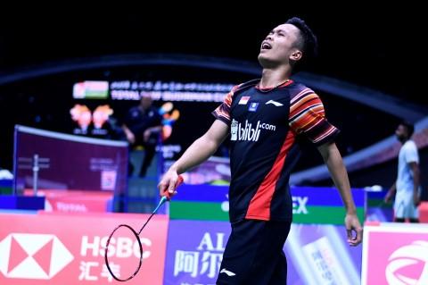 Anthony Ginting Kalah, Indonesia Tertinggal 0-2 dari Denmark