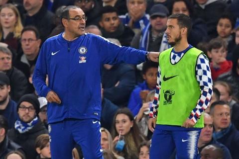 Sarri Pasrah Hazard Tinggalkan Chelsea