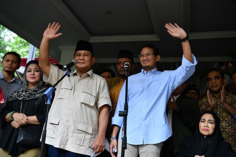 Kubu Prabowo-Sandi Gugat Hasil Pemilu ke MK