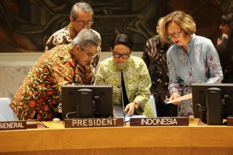 FM Retno Chairs UNSC Briefing on the Situation in the Middle East