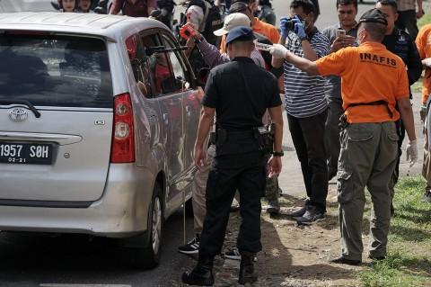 Polisi Olah TKP Penembakan Mako Brimob Purwokerto