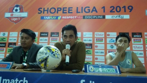 Gagal Menang di Kandang, Pelatih PSS Sleman Minta Maaf