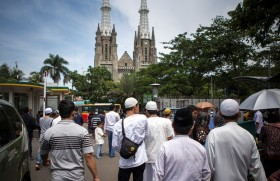 Gereja Katedral Siap Tampung Kendaraan Jemaah Salat Id