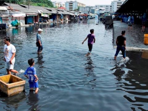 Pintu Air Pasar Ikan Berstatus Siaga II