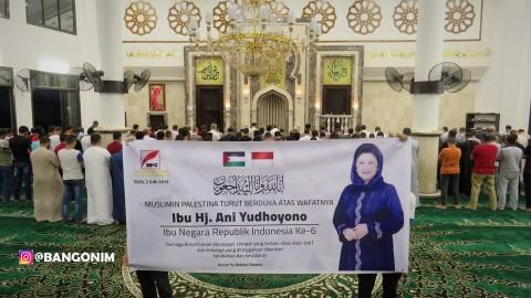 Warga Palestina Salat Gaib untuk Ani Yudhoyono