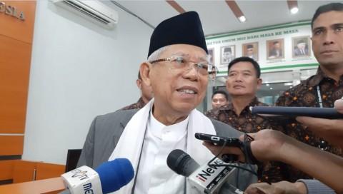 Ma'ruf Amin Minta Masalah Pilpres Dilupakan