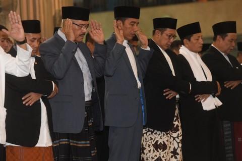 Jokowi Salat Id di Masjid Istiqlal