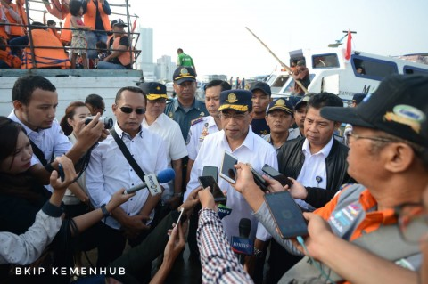 Menhub Cek Kesiapan Kapal Pelabuhan Kaliadem
