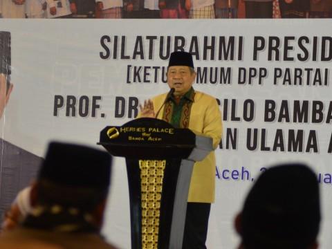 Masih Berduka, SBY Enggan Bicara soal Partai