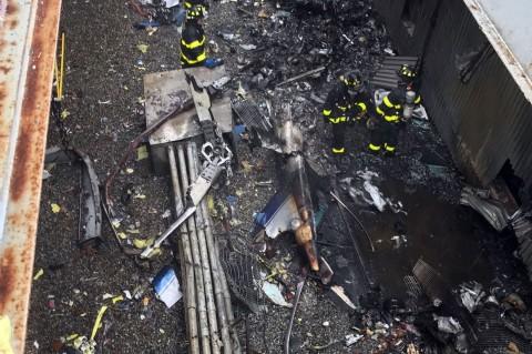 Satu Tewas saat Helikopter Jatuh di Gedung Manhattan