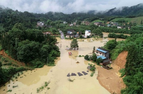 Banjir di Tiongkok Selatan Tewaskan 19 Orang