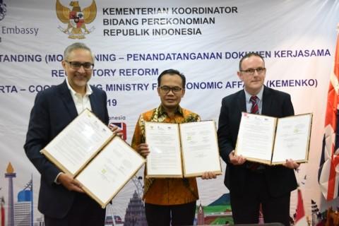 Inggris Hibahkan Rp20 Miliar untuk Perbaikan Regulasi di Indonesia