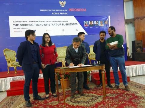 Pemuda Indonesia-Ethiopia Bangun Kerja Sama Bilateral