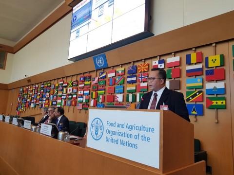 Rektor IPB Sumbang Solusi Pertanian Digital di FAO Roma