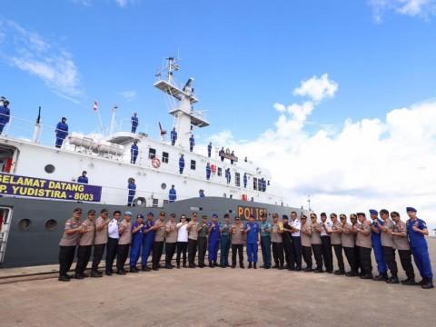 KP Yudistira 8003 Perkuat Pengamanan Laut Polda Kepri