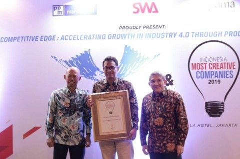 Pupuk Indonesia Dianugerahi Indonesia Most Creative Company 2019