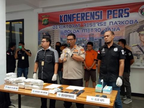 Polisi Tangkap Kurir Sabu 10,5 Kg Jaringan Malaysia