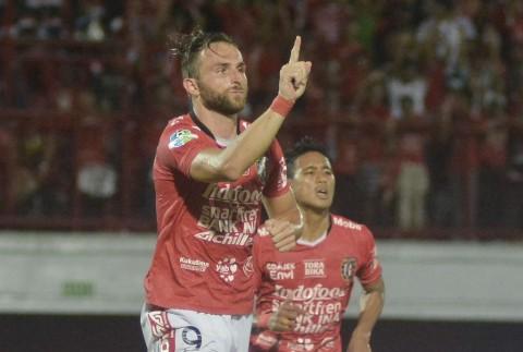 Sundulan Spasojevic Bantu Bali United Taklukkan PSIS
