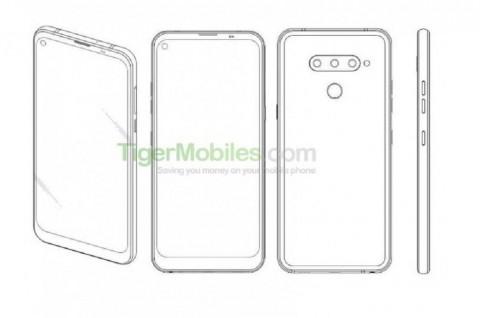 LG Terima Paten Ponsel dengan Lubang untuk Kamera Depan