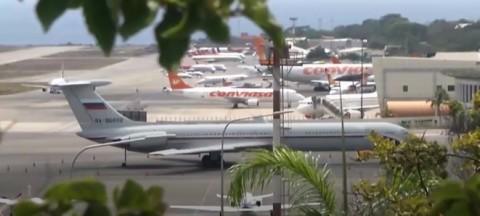 Jet Rusia Terlihat Mendarat di Bandara Venezuela