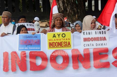 Jelang Putusan MK, Warga di Malang Deklarasi Indonesia Damai