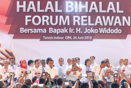 Jokowi Batal Hadiri Halalbihalal dengan Relawan