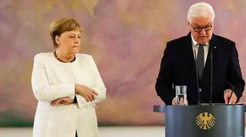 Tubuh Kanselir Jerman Kembali Kejang di Depan Publik