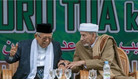 Ma'ruf Amin Diminta Perjuangkan 'Guru Tua' Jadi Pahlawan Nasional