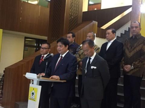 Airlangga Bawa DPD Golkar se-Indonesia Menghadap Jokowi